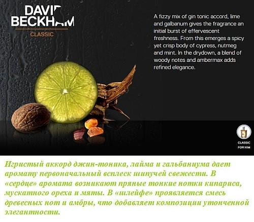Описание нот аромата David Beckham Classic от Дэвида Бекхэма