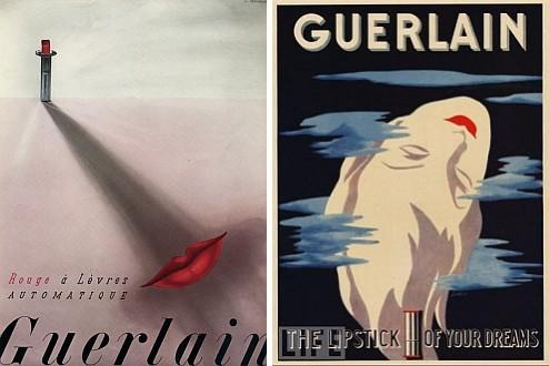 рекламные плакаты губной помады Guerlain