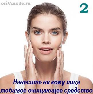 Аппарат для очищения кожи лица SkinPro - применение (шаг 2)