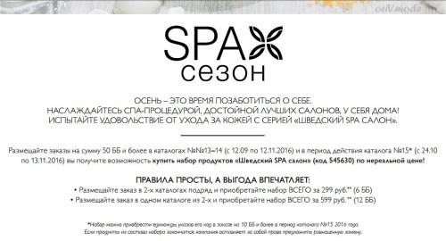 Условия акции СПА-сезон