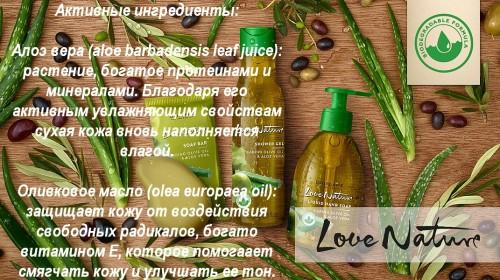 активные ингредиенты средств Олива и Алоэ Вера
