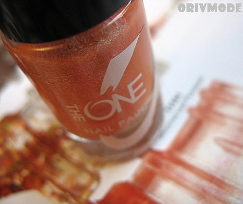 Орифлейм лак для ногтей Золотистый Розовый